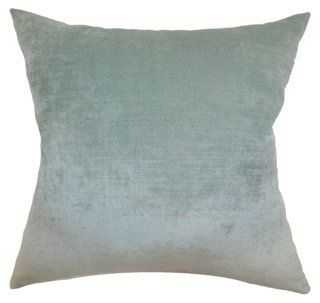 Vince 18x18 Pillow, Aqua - One Kings Lane