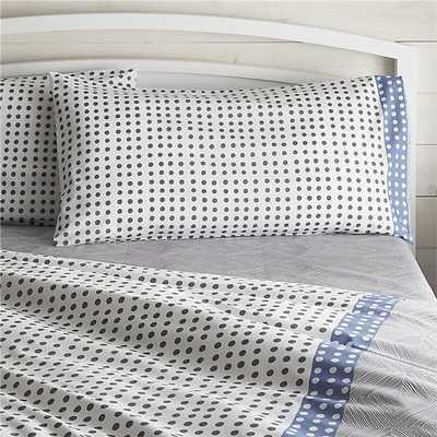Torben Blue King Pillow Sham - Crate and Barrel