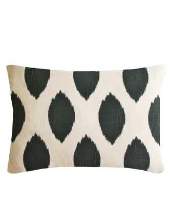 "Cotton Ikat Lumbar Pillow- 14"" x 18""- with insert - High Street Market"