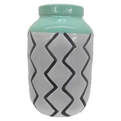 Stripe Ceramic Vase - Green - Target