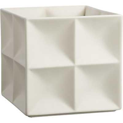 Velero white planter - CB2