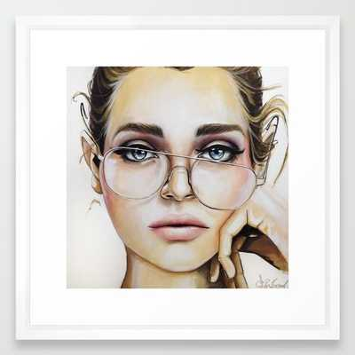 """Face for NYC - VECTOR WHITE MEDIUM (GALLERY) (22"""" X 22"""") - Society6"""