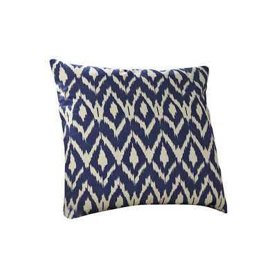Tara Ikat Pillow Cover, Navy - 18x18 - Insert Sold Separately - Wayfair