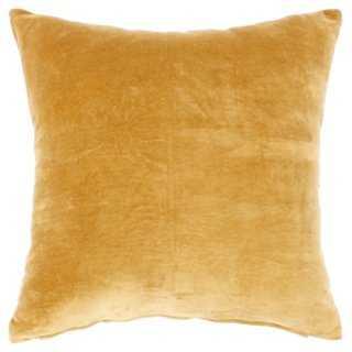 Solid Velvet Pillow - One Kings Lane