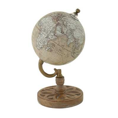 Wood Metal PVC Globe - Overstock