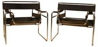 Breuer Wassily-Style Chairs, Pair - One Kings Lane