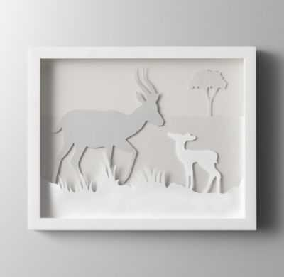 Animal silhouette art - impala - RH Baby & Child