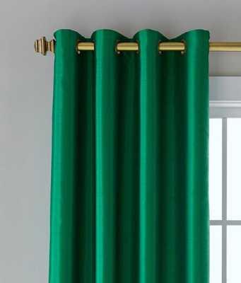 """Jasper Faux Silk Lined Grommet Curtains Pair - 63"""" - prospectandvine.com"""