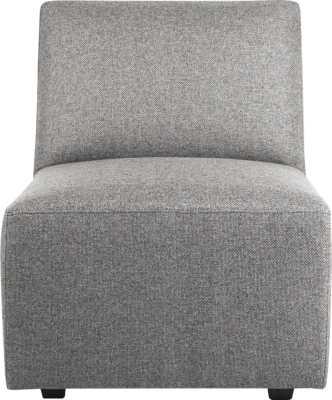 Layne armless sectional chair - Taylor felt grey - CB2