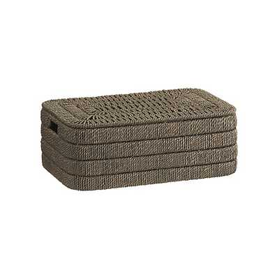 Kabud Small Lidded Basket - Crate and Barrel
