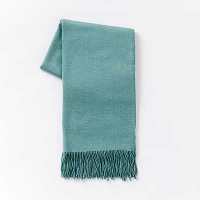 Warmest Throw - Yarn Dyed - Peacock - West Elm