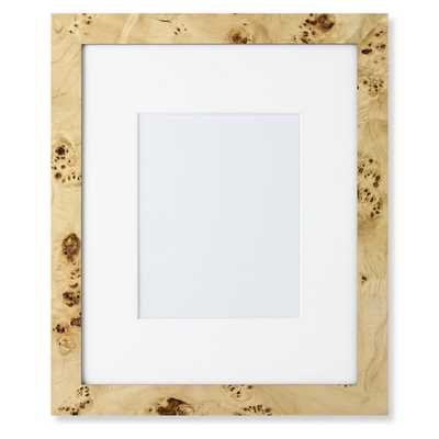 """Exotic Burl Wood Gallery Picture Frame- 8"""" X 10"""" - Williams Sonoma"""