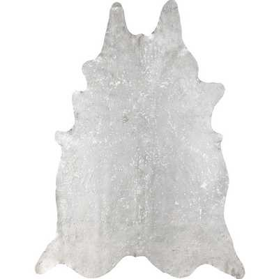 NuLOOM Hand-picked Brazilian White Devour Cowhide Rug (5' x 7') - Overstock
