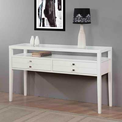 Aristo Gloss White Sofa Table - Overstock