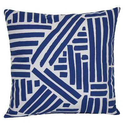 """Outdoor Pillow - Blue Marker - Room Essentialsâ""""¢-15""""x15""""-Insert - Target"""