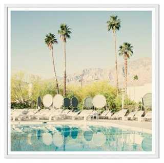 "Christine Flynn, Pool Reflections - 40""L x 40""W - framed - One Kings Lane"