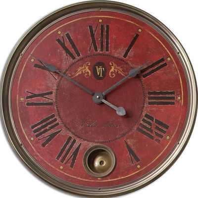 "Regency Oversized 23"" Villa Tesio Wall Clock - Wayfair"
