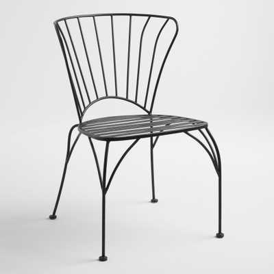 Black Metal Cadiz Chairs Set of 2 - World Market/Cost Plus