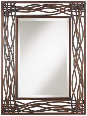 Uttermost Dorigrass Distressed Mocha Brown Wall Mirror - Lamps Plus