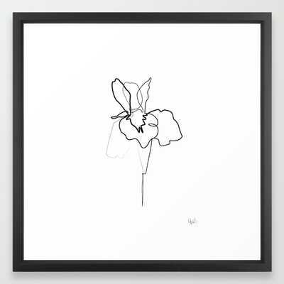 One line Iris 22x22 framed - Society6