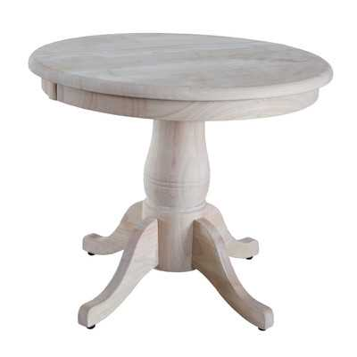 Round Pedestal Table by International Concepts - Wayfair