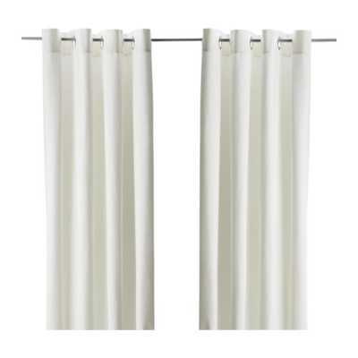 "MERETE Curtains, 1 pair - White bleached - 57"" x 118"" - Ikea"