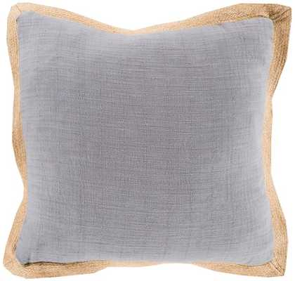 """SURYA · TRANSITIONAL PILLOWS · JUTE FLANGE - 18"""" x 18"""" - Polyester filled - Rugs Direct"""