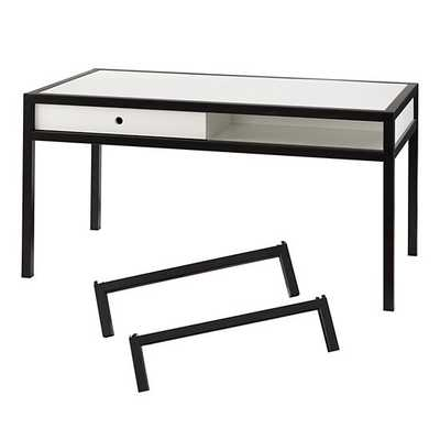 White & Black Adjustable Hi-Fi Play Table and Extender Leg Set - Land of Nod