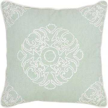 """MEENA EMBROIDERED PILLOW - 18"""" x 18"""" - Polyester fiber insert - Home Decorators"""