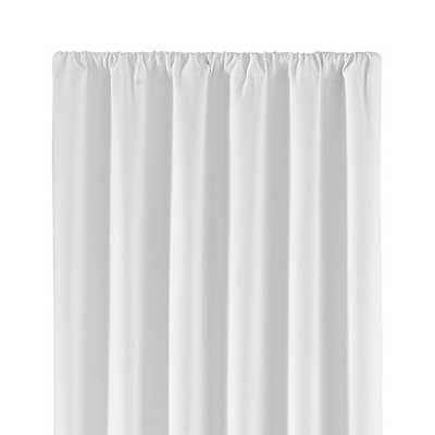 "Wallace White 52""x96"" Blackout Curtain Panel - Crate and Barrel"