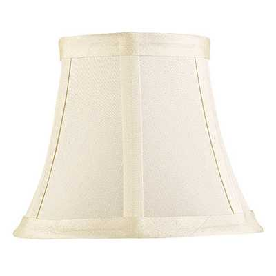 Dupioni Silk Chandelier Shade - Ivory - Home Decorators