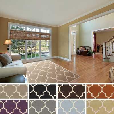 Hand-tufted Rachel Moroccan Tile Wool Area Rug (5' x 8') - Overstock