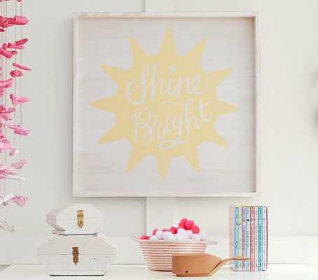 """Shine Bright Art - 24"""" -  Framed - Pottery Barn Kids"""