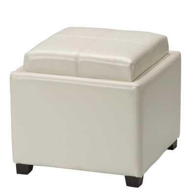 Carter Upholstered Storage Ottoman - Creme - Wayfair