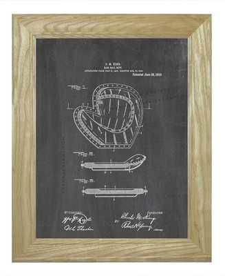 "Framed Patent Print - Base-ball Mitt -20""x24""- Black chalkboard - Etsy"