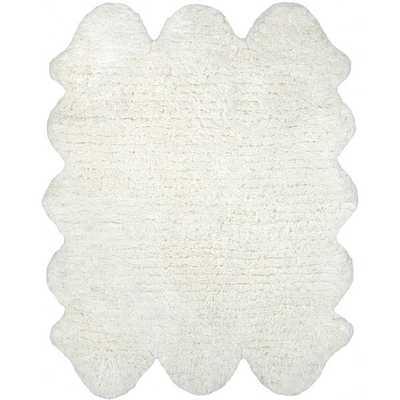 NuLOOM Hand-tufted Faux Sheepskin Sexto Pelt Natural shag Rug (4' x 9'6) - Overstock