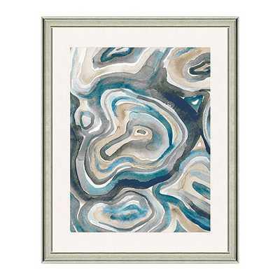 "Water Agate Art- Print I-  30"" x 24""- Antique Silve frame - Ballard Designs"