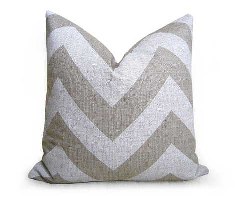 Chevron Linen Pillow Cover - Natural - White - 20 inch - Insert Sold Separately - Etsy