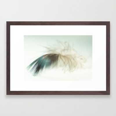 "Feather - 21"" x 15"" - Framed - Society6"