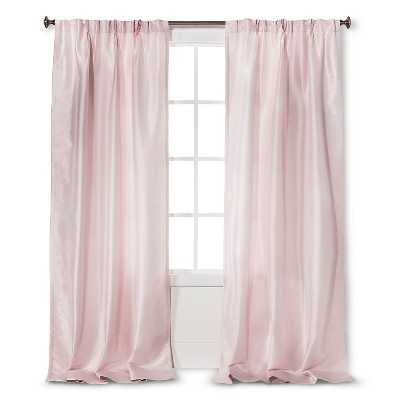 Simply Shabby Chic Faux Silk Pleat Curtain Panel - Target