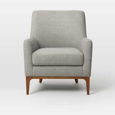 Sloan Upholstered Chair - Linen Weave, Platinum - West Elm