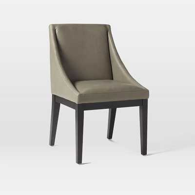 Curved Leather Chair - Individual, Elephant - West Elm