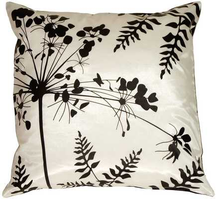 Spring Flower and Ferns Large Throw Pillow - Overstock