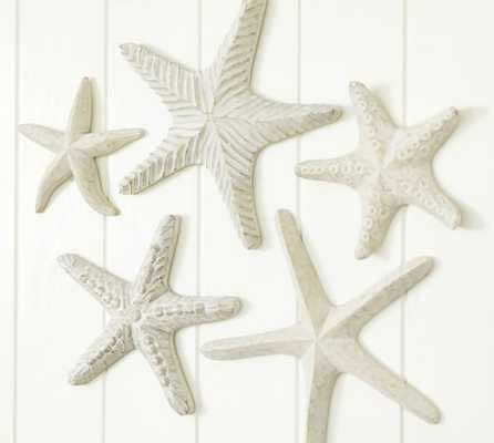 CARVED WOOD STARFISH, SET OF 5 - Pottery Barn
