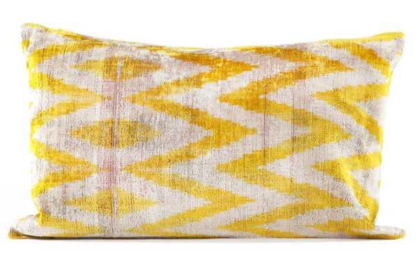 Silk Velvet Pillow - Domino
