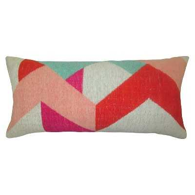 Yarn Dyed Lumbar Pillow - 24 L x 12 W-Insert included - Target