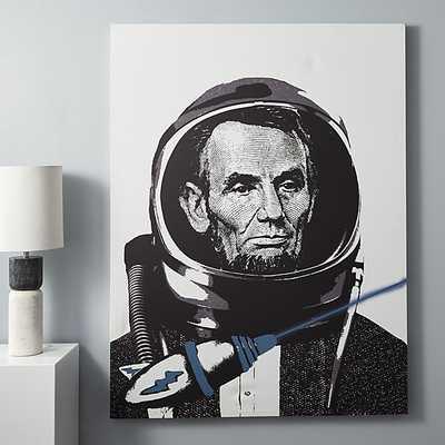 Lincoln spaceman print - CB2