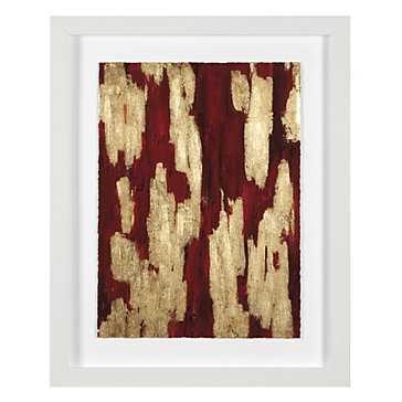 Crimson Cavern 4 - 24.75''W x 30.75''H - Framed - Z Gallerie