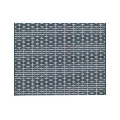 Aldo Blue Indoor-Outdoor 8'x10' Rug - Crate and Barrel