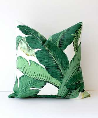 Modern Tropical Green Designer Pillow - Etsy